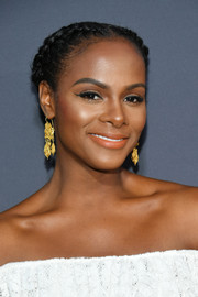 Tika Sumpter looked darling wearing this crown braid at the PopSugar x ABC 'Embrace Your Ish' event.