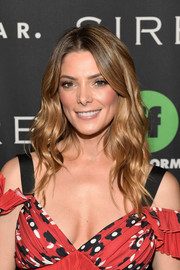 Ashley Greene sported summer-chic waves at the Popsugar x Freeform Mermaid Museum VIP Night event.