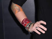 Carly showed off her number seven tattoo on her ring finger.