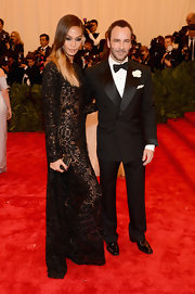 Tom Ford looked super dapper and cool in this peak-lapel tux.
