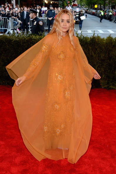 Ashley Olsen in Sheer Orange