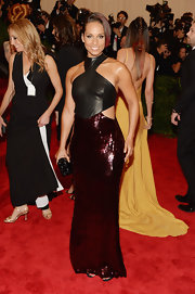 Alicia Keys' Met Gala gown was this black leather and sequin number that totally made the singer sparkle!