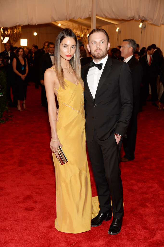 Lily Aldridge and Caleb Followill attend the Costume Institute Gala for the 'PUNK: Chaos to Couture' exhibition at the Metropolitan Museum of Art on May 6, 2013 in New York City.