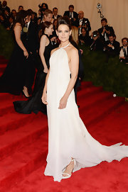 Katie Holmes looked totally angelic in this flowing white halter dress, which she wore to the 2013 Met Gala.