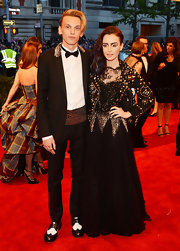 Lily Collins chose this punk-to-the-extreme look that featured an embellished bodice for her red carpet appearance at the Met Gala.