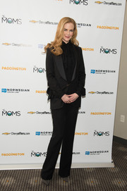 Nicole Kidman was sleek and sophisticated in a black Elie Saab pantsuit at the screening of 'Paddington' in New York City.