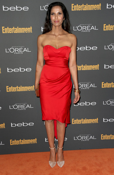 Padma Lakshmi Strapless Dress