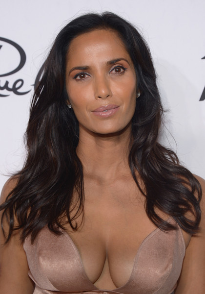 Padma Lakshmi Long Wavy Cut [variety and women in films pre-emmy celebration - arrivals,variety and women in films pre-emmy celebration,hair,brassiere,clothing,hairstyle,eyebrow,brown hair,long hair,beauty,black hair,lip,padma lakshmi,tv personality,west hollywood,california,gracias madre]
