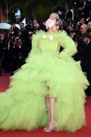 Deepika Padukone stole the spotlight in a voluminous lime-green tulle gown by Giambattista Valli Couture at the 2019 Cannes Film Festival screening of 'Pain and Glory.'