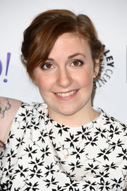 Lena Dunham wore her hair in a simple loose updo during the Paleyfest LA 'Girls' event.