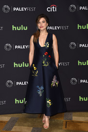 Sophia Bush looked captivating in a low-cut floral-embroidered dress by Stella McCartney during PaleyFest LA.