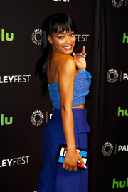 Keke Palmer accessorized with a colorful Les Petits Joueurs Lego clutch when she attended PaleyFest Los Angeles.