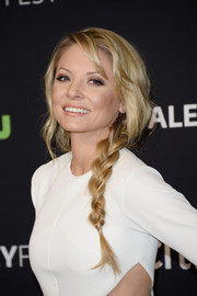 Kaitlin Doubleday looked like Queen Elsa with her loose side braid during PaleyFest Los Angeles.