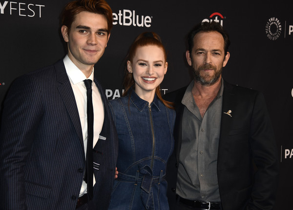 More Pics of Madelaine Petsch Ponytail (1 of 9) - Madelaine Petsch Lookbook - StyleBistro [paley center for media,paleyfest,premiere,event,suit,facial hair,brand,style,los angeles,riverdale,dolby theatre,california,arrivals,madelaine petsch,luke perry,kj apa]