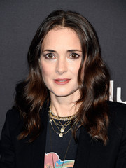 Winona Ryder styled her hair with boho waves for PaleyFest Los Angeles.