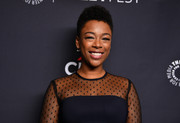Samira Wiley attended PaleyFest Los Angeles sporting this short curly hairstyle.
