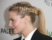 Jennifer Morrison attended PaleyFest 2012 wearing her hair in a stylish French braid and ponytail.