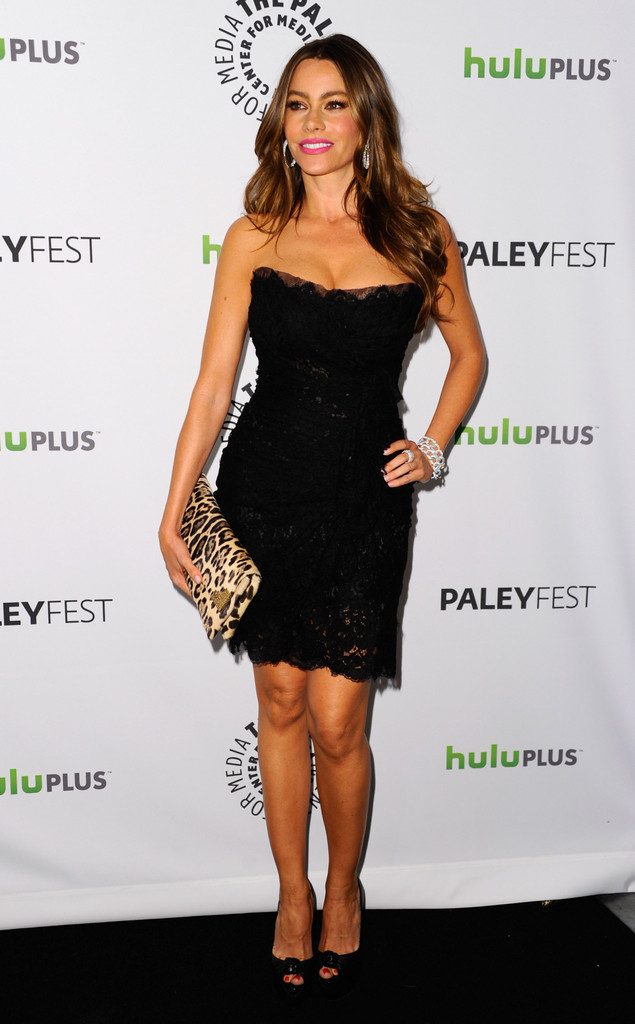"Actress Sofia Vergara arrives to The Paley Center for Media&squot;s PaleyFest 2012 honoring ""Modern Family"" at Saban Theatre on March 14, 2012 in Beverly Hills, California."