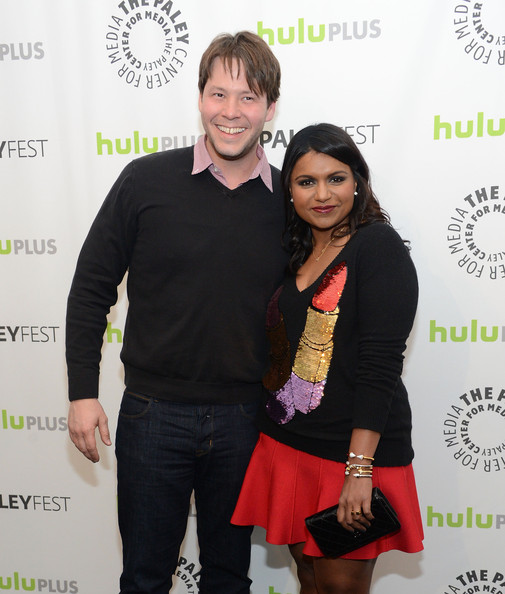 More Pics of Mindy Kaling Cutout Boots (1 of 23) - Boots Lookbook - StyleBistro [the mindy project,green,yellow,fashion,event,outerwear,carpet,fashion design,style,mindy kaling,ike barinholtz,saban theatre,beverly hills,california,paley center for media,paleyfest 2013]