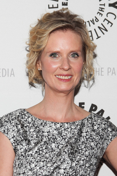 More Pics of Cynthia Nixon Short Curls (4 of 13) - Short Hairstyles Lookbook - StyleBistro [the big c,hair,shoulder,hairstyle,blond,eyebrow,dress,cocktail dress,premiere,lip,joint,cynthia nixon,screening,new york city,paley center for media presents,paley center for media]