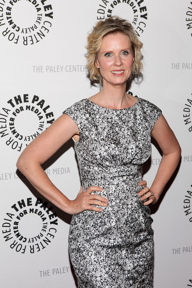 More Pics of Cynthia Nixon Short Curls (5 of 13) - Short Hairstyles Lookbook - StyleBistro [the big c,clothing,dress,cocktail dress,hairstyle,fashion,blond,black-and-white,premiere,fashion model,long hair,cynthia nixon,screening,new york city,paley center for media presents,paley center for media]
