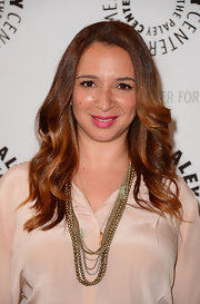 Maya Rudolph stepped out for an evening with 'Up All Night' wearing her auburn hair in smooth glossy waves.