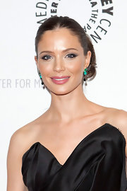 Georgina Chapman wore a creamy warm pink lipstick at the 'Project Runway' All Stars event.