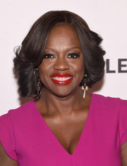 Viola Davis showed off a flawlessly styled feathered 'do during PaleyLive NY.