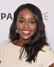 Aja Naomi King opted for a casual wavy 'do when she attended PaleyLive NY.