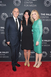 Judith Light kept it timeless in a long-sleeve aqua-green lace dress while attending PaleyLive NY Presents An Evening with Jeffrey Tambor.
