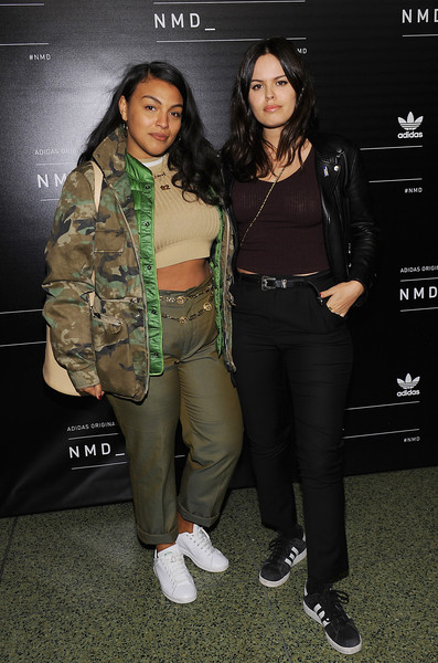 Paloma Elsesser Leather Sneakers [clothing,fashion,outerwear,fashion design,performance,jacket,event,camouflage,style,shoe,paloma elsesser,atlanta de cadenet taylor,adidasoriginals,nmd,69th regiment armory,new york city,adidas originals nmd global unveiling,l,unveiling]