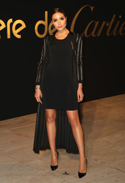 Olivia Culpo opted for a simple little black dress when she attended the Panthere De Cartier party.