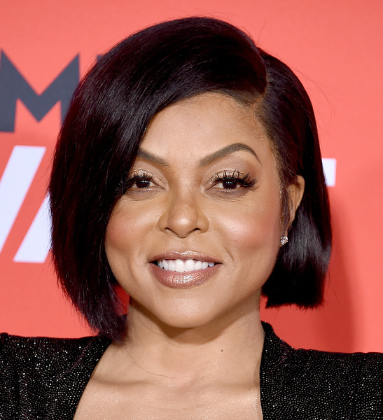 Taraji P. Henson looked cute and youthful with her asymmetrical bob at the premiere of 'What Men Want.'