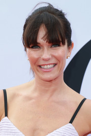 Katie Aselton looked youthful wearing this ponytail with eye-grazing bangs at the premiere of 'Book Club.'