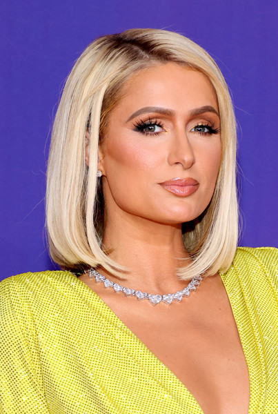 Paris Hilton Mid-Length Bob [movie,image,nose,skin,lip,chin,hairstyle,eyebrow,shoulder,eyelash,eye liner,azure,unscripted - arrivals,tv awards,hair,hair coloring,hairstyle,forehead,nose,mtv,hair coloring,layered hair,bangs,brown hair,bob cut,hair,black hair,blond,forehead,long hair / m]