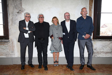 Patrizio Bertelli Miuccia Prada Prada Foundation Hosts a Private Lunch