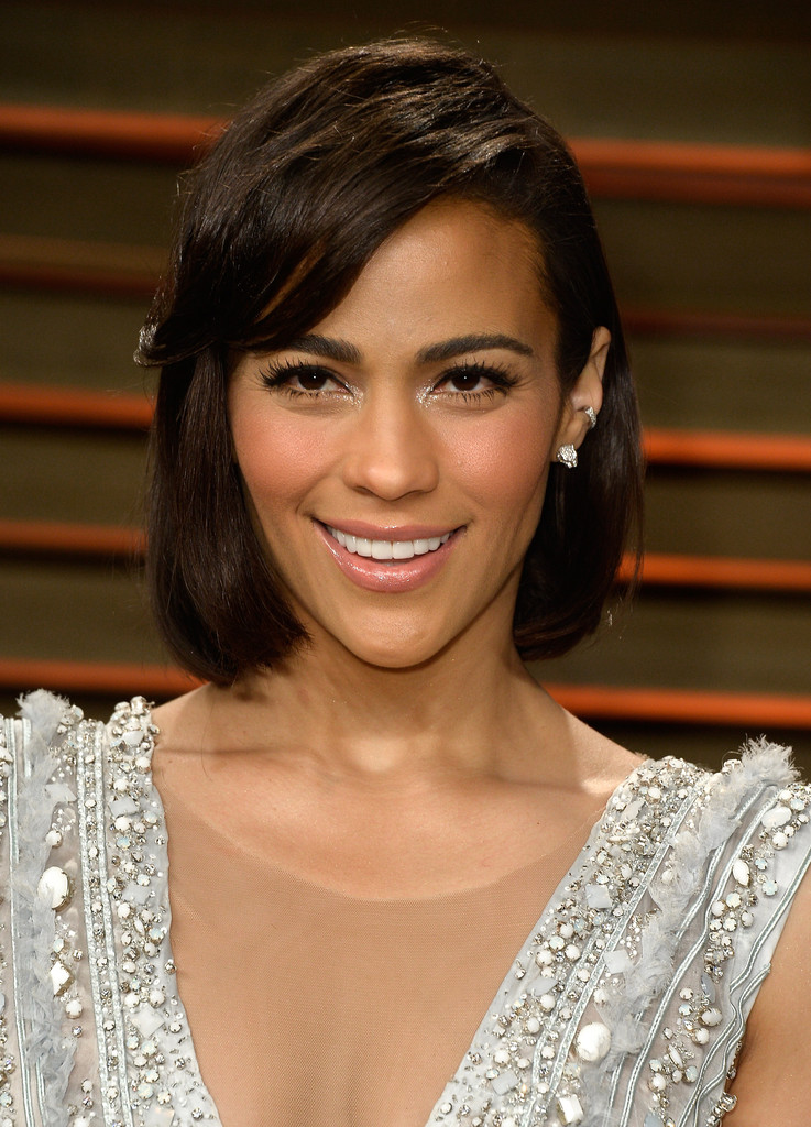 Paula Patton topped off her look with a simple bob with side-swept bangs when - Paula%2BPatton%2BShort%2BHairstyles%2BBob%2BBbd0stKlKObx