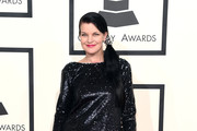 Pauley Perrette Beaded Dress