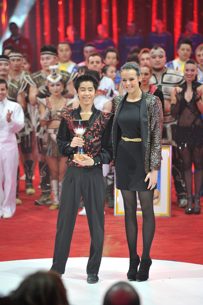 Pauline Ducruet Sequined Jacket [fashion,event,performance,public event,fashion show,runway,performance art,fashion design,performing arts,flooring,ty tojo,charlene of monaco,albert ii,pauline ducruet,handout image,palais princier de monaco,japan,monte-carlo,monte-carlo 36th international circus festival,antoinette memorial cup]
