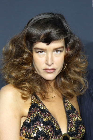 Paz de la Huerta Medium Curls with Bangs