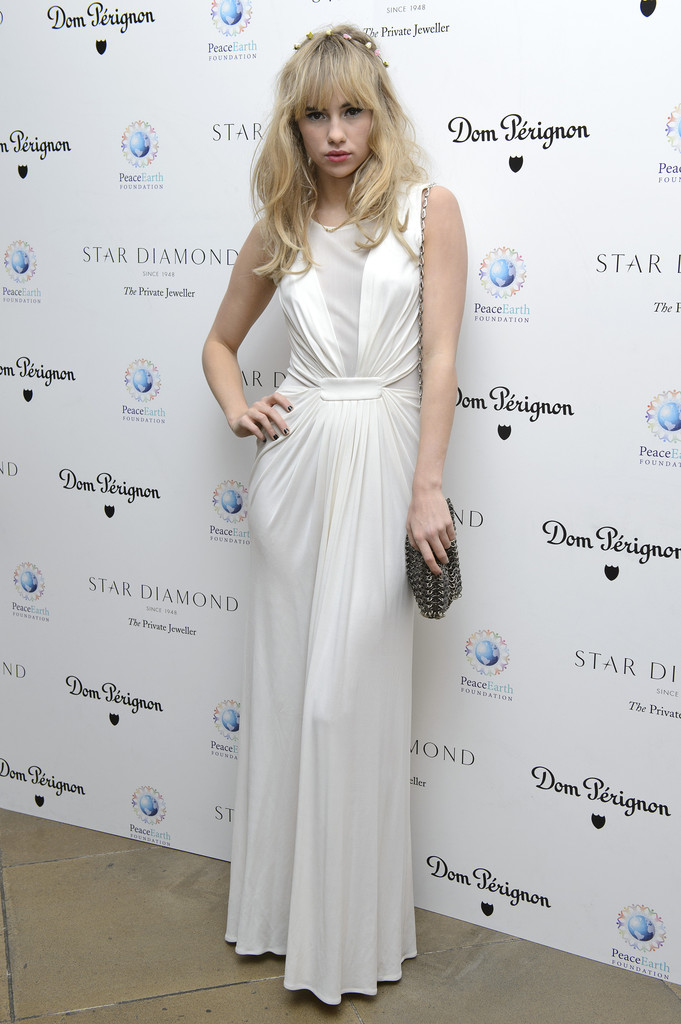 Suki Waterhouse attends the PeaceEarth foundation fundraising gala at Banqueting House on November 10, 2012 in London, England.
