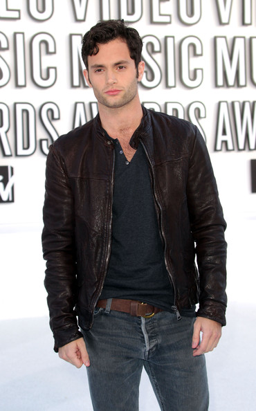 Penn Badgley Leather Jacket