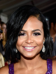 Christina Milian wore a simple bob with a deep side part during the People's Choice Awards.
