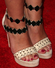 A.J. Cook donned a pair of rocker-glam studded heels for People's Ones to Watch party.