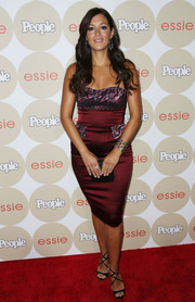 Angelique Cabral showed some skin and curves in a tight-fitting strapless dress during People's Ones to Watch party.