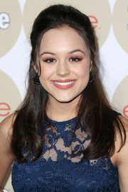 Hayley Orrantia wore a retro-chic half-up half-down 'do when she attended People's Ones to Watch party.