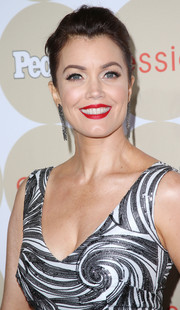 Bellamy Young wore a simple yet elegant bun when she attended People's Ones to Watch party.