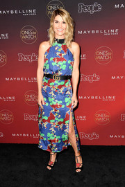 Lori Loughlin cut a vibrant figure in this colorful print dress during People's Ones to Watch event.