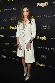 Daya looked oh-so-cool in an asymmetrical white tux dress with a studded lapel at the Ones to Watch event.