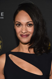 Cynthia Addai-Robinson styled her hair into a side sweep with curly ends for the Ones to Watch event.